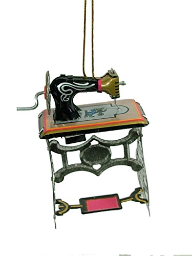 Tin Vintage Style Sewing Machine Quilting Sew Thread Christmas Tree Ornament
