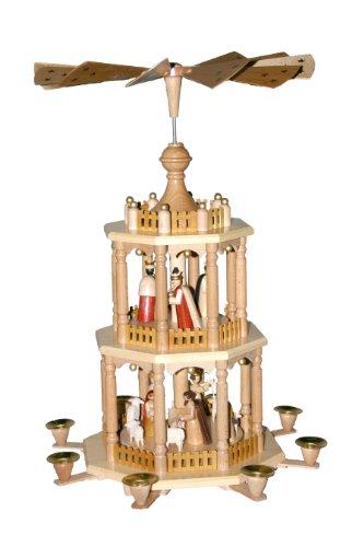 Alexander Taron Richard Glaesser Pyramid – 3 Tiers – Nativity Scene – 21.5″H x 13.5″W x 13.5″D