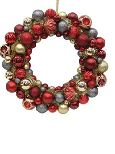 Martha Stewart Living Regal Holiday 24 in. Christmas Shatterproof Ornament Ball Wreath