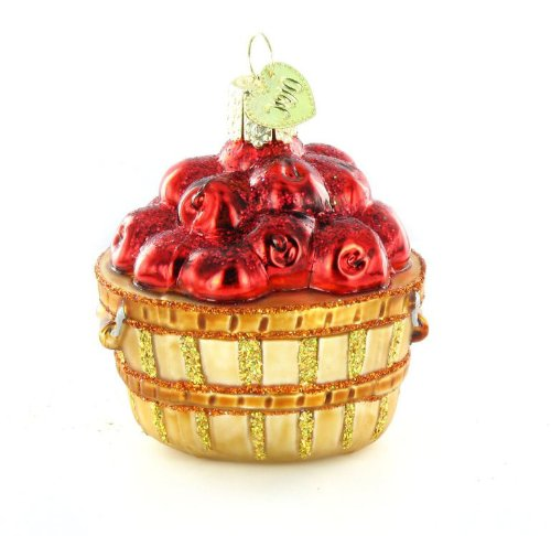 Old World Christmas Apple Basket Ornament
