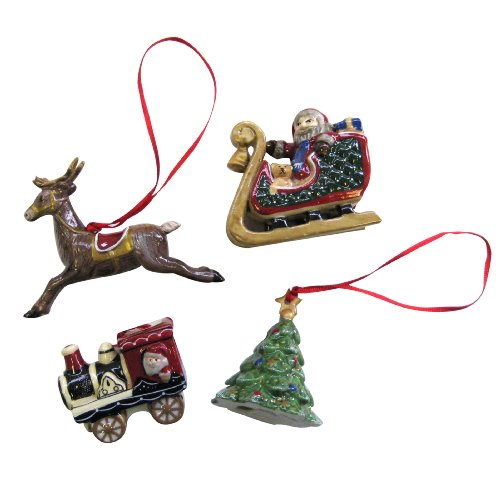 Villeroy & Boch Nostalgic, Christmas Ornaments Christmas Scenes, Set of 4
