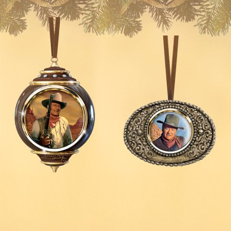John Wayne The Duke Christmas Ornaments Set #2 includes Best in the West and Buckle Down (Set of 2)