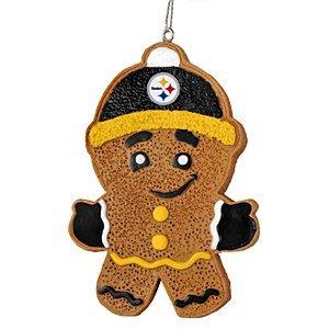 2013 NFL Football Resin Hanging Gingerbread Man Ornament (Pittsburgh Steelers)