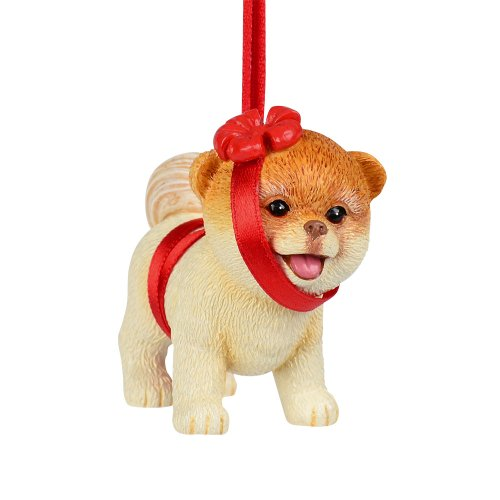 Department 56 Presents Boo The World's Cutest Dog in Bow Ornament, 2.5-Inch