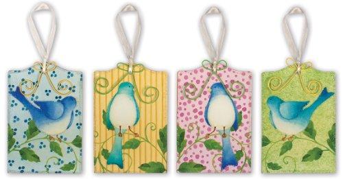 Sunset Vista Designs Bird Gift Tag by Artist Debra Grogan, Set of 4