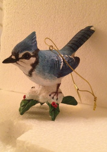 Danbury Mint Songbird Ornament, Goldfinch and Blue Jay