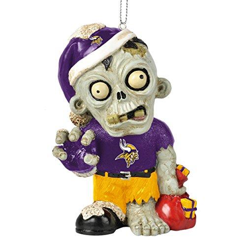 NFL 2014 Zombie Christmas Hanging Ornament 4″ (Minnesota Vikings)