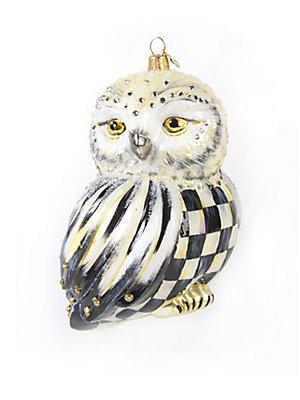 MacKenzie-Childs Cortly Check Snowy Owl