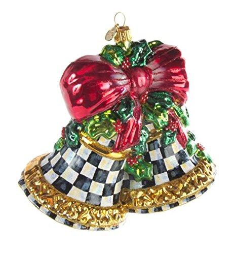 Mackenzie-Childs Glass Ornament- Noel Bells