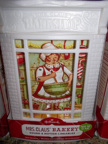 "2013 HALLMARK CHRISTMAS SOUND & MOTION LINKABLES, ""MRS. CLAUS' BAKERY"""