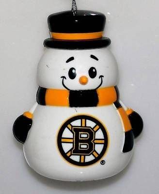 Boston Bruins NHL Team Snowman Holiday Ornament