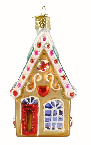 Old World Christmas Cookie Cottage Glass Ornament