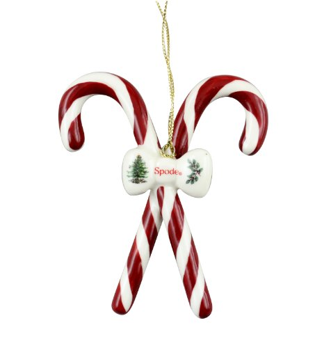 Spode Christmas Tree Candy Canes Ornament