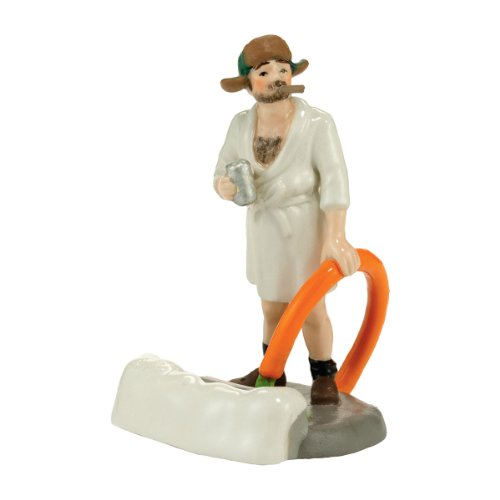 Department 56 Original Snow Village Cousin Eddie in The Morning Accessory, 2.95-Inch – Christmas Vacation Movie