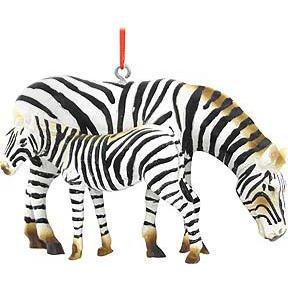 Zebra with Baby Ornament