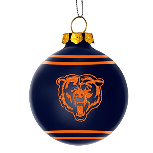 2014 NFL Football Team Glitter Logo Glass Ball Ornament – Pick Team (Chicago Bears)
