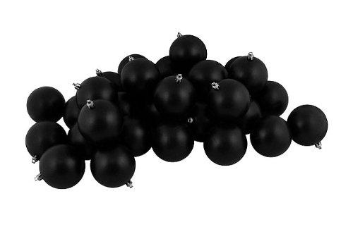 Vickerman Ball Ornament, 80mm, Black