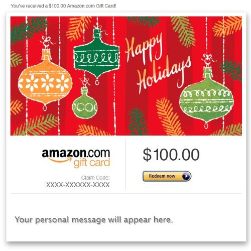 Amazon Gift Card – Email – Happy Holidays (Ornaments)