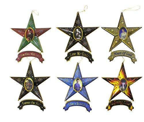 Elvis Presley Star Collectible Christmas Ornament 6-Piece Set