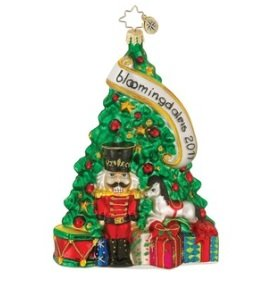 Christopher Radko 2011 Glass Bloomindales Noble Tradition Tree Christmas Ornament
