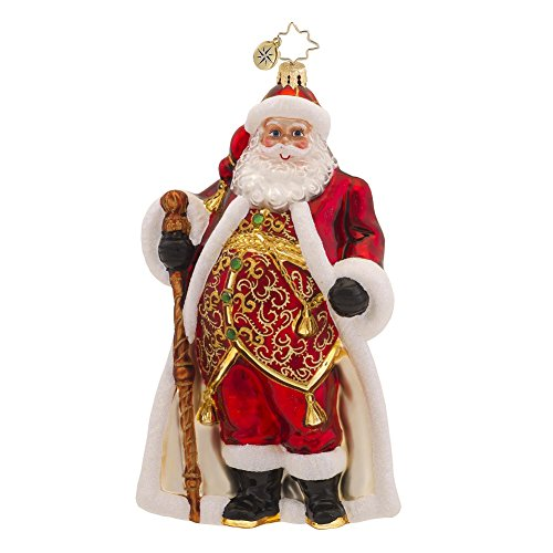 Christopher Radko Vest Day of the Year Santa Ornament