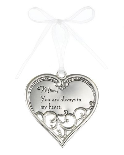 """Mom, you are always in my heart"" Heart Filigree Ornament"