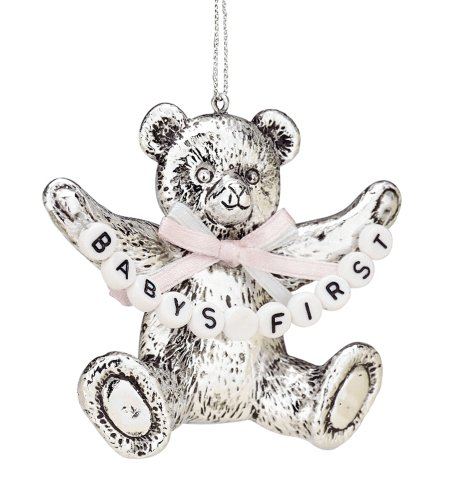 Reed & Barton Silverplate Baby's First Christmas Bear Ornament