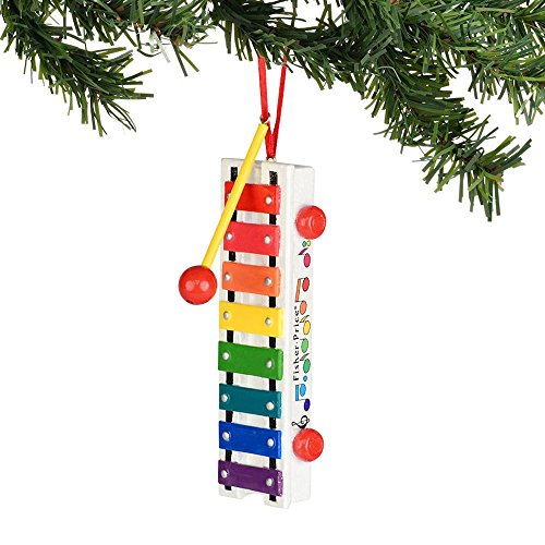 Department 56 Fisher Price Pull-A-Tune Xylophone Ornament, 3.75-Inch