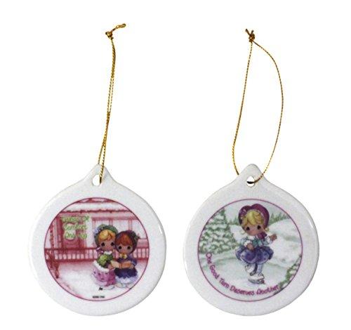 "Precious Moments ""Christmas Remembered"" Procelain Ornament Set"