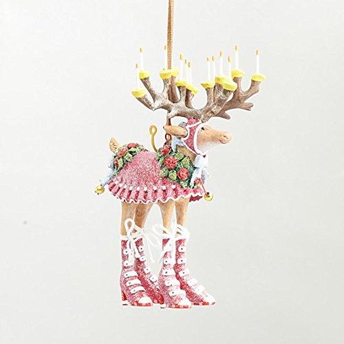 4.75″ Patience Brewster Krinkles Mini Dash Away Donna Decorative Reindeer Christmas Ornament