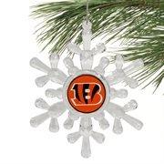 Cincinnati Bengals- Acrylic Snowflake Ornament