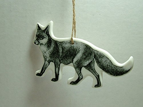Ceramic Red Fox Pup Cub Kit Vixen Dog Woodland Animal Christmas Tree Ornament