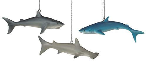 Hammerhead Bull and Blue Shark Holiday Ornaments Set of 3 Midwest CBK