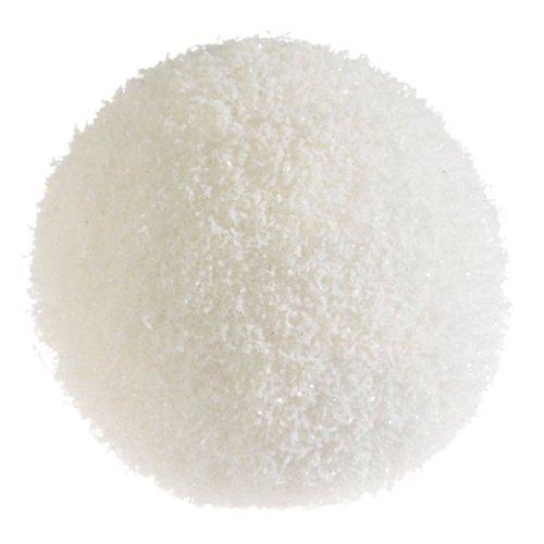 RAZ Imports – 4″ Glittered Snowball Ornament