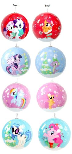 My Little Pony Holiday 4 Pack Ball Ornaments