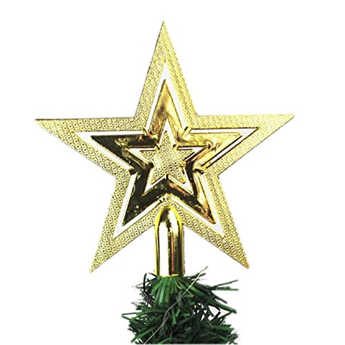 Pooqdo (TM) Newest Shiny Xmas Decorative Christmas Star Tree Topper for Table Top Ornament