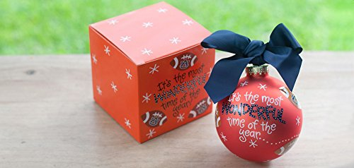 Coton Colors Auburn (Au) Most Wonderful Time of the Year Football Ornament. Any Fan Will Love This Auburn Most Wonderful Time Ornament. All Collegiate Ornaments Come Boxed and Tied with a Coordinating Ribbon Making Them the Perfect Gift for Anyone.