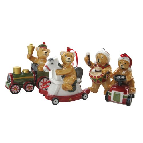 Villeroy & Boch Nostalgic Ornaments Teddy Bear Set of 4