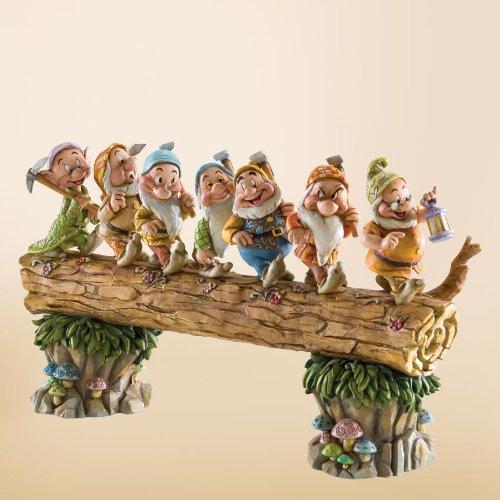 Disney Traditions by Jim Shore 4005434 Seven Dwarfs Walking Over Fallen Log Figurine 8-1/4-Inch