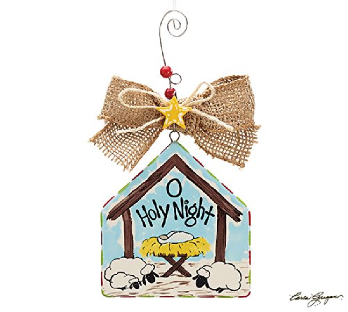 O Holy Night Creche Shape Ornaments – Christmas Ornament Holiday Gift