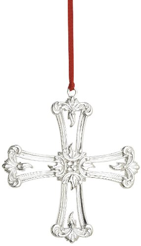 Reed & Barton Classical Cross Christmas Ornament, 3-1/2-Inch