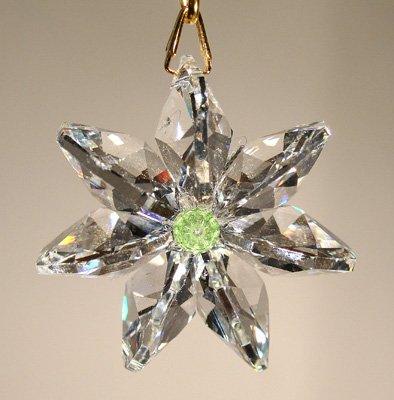 Clear Daisy Ornament with Swarovski Crystal