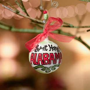 """Glory Haus Sweet Home Alabama Ball Ornament. """"Sweet Home Alabama"""" Porcelain Ball Christmas Ornament Is Perfect to Show Off Your State Spirit. Makes a Spirited Gift. Comes with a Decorative Ribbon."""