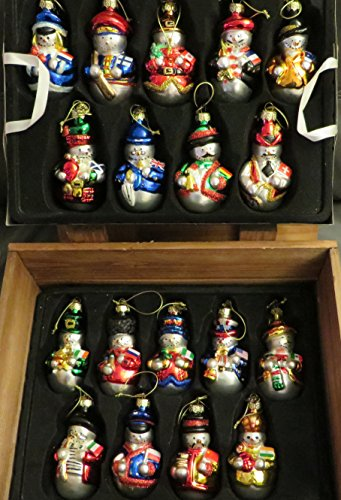 Thomas Pacconi Snowmen From Around the World Ornaments with Flags 18 Piece Set 2003
