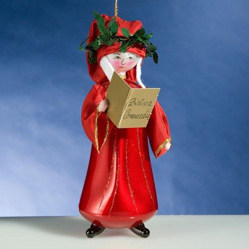 De Carlini Dante Alighieri Italian Glass Christmas Ornament