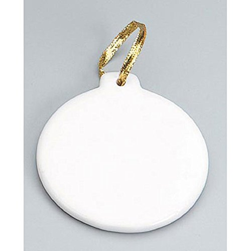 Round Porcelain Ornament – 6 Pack