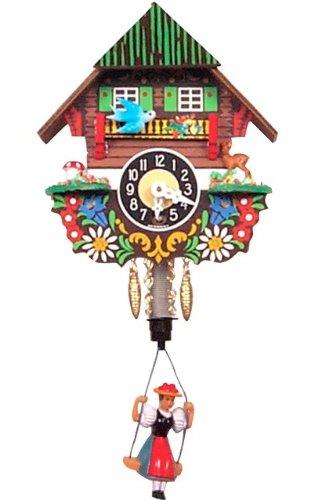 Alexander Taron Home Seasonal Décorative Accessories Engstler Key Wound Clock – Mini Size – 5.5″H x 4.75″W x 3.5″D