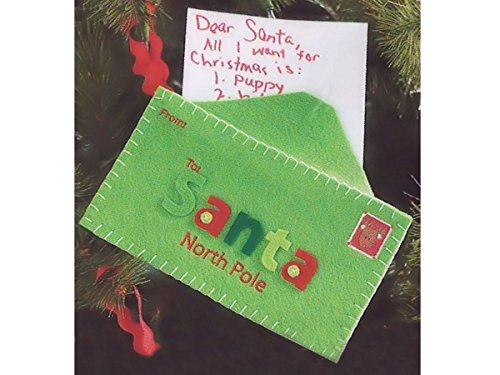 Mud Pie Christmas Letter to Santa Keepsake Ornament (green)