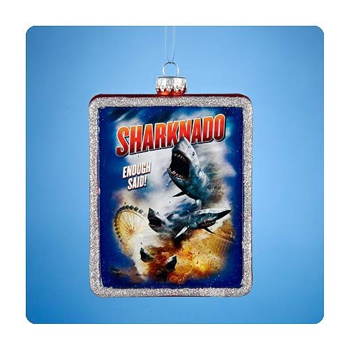 Sharknado 4-Inch Glass Ornament