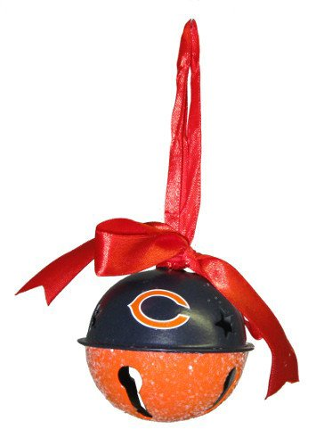 Chicago Bears Metal Glitter Bell Ornament